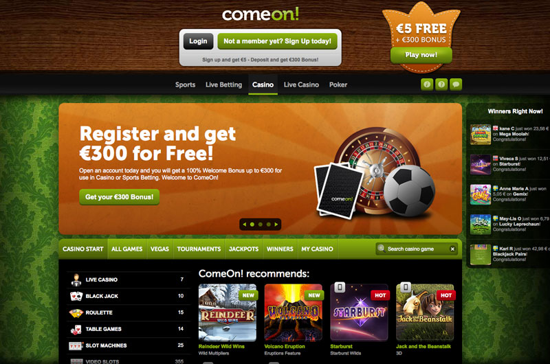 Comeon casino bonus code 2019
