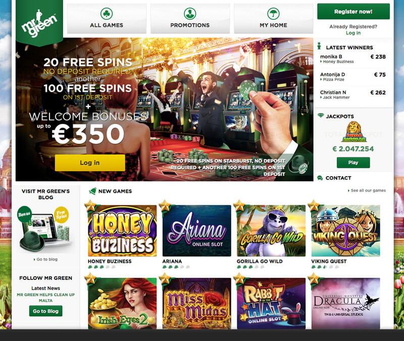 Mr Green Casino Gratis
